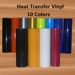PU Heat Transfer Vinyl Iron-on Fabric HTV Press Cutter Printable T-Shirt Crafts 12'' x 10ft (30cm x 3m) Choose Color