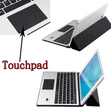 Universal Ultra Thin Aluminium Dechatable Bluetooth Keyboard w/ Touchpad & Deformable Case For Dell Venue 10 Pro 5000 5055