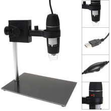 Cheap price Microscope Repair Magnifier 8 LED 500x USB Digital Microscope holder Magnification Soldering Standing Lamp