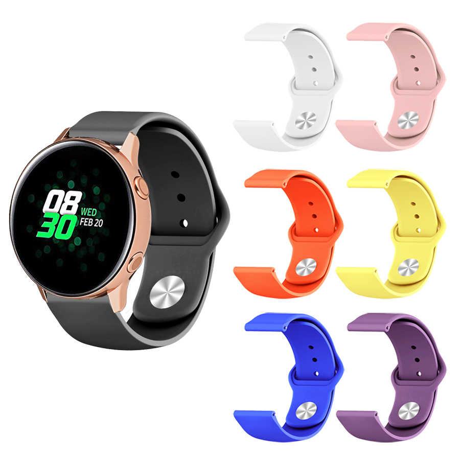Pour Samsung Galaxy montre Bracelet actif Bracelet Silicone souple pour Galaxy montre accessoires actifs 20mm Bracelet de montre pour Amazfit Bip