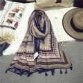 Mujer 2016 de La Bufanda De Las Mujeres Bufandas casaco 190*70 cm Manta de Algodón Suave Tartan Plaid Pashmina Mantón Warp Invierno Mantones de las señoras