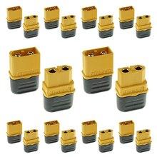 Amass 10 пар XT60H Пуля разъем обновленный XT60 оболочка женский и мужской позолоченный для RC частей