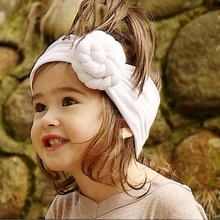 ON SALE 1PCS Newborn Top Knot Headband Solid turban Headbands For Kids Girls Head Band Hair Accessories Summer bandeau bebe
