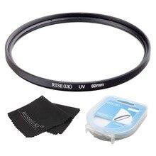 82mm/95mm/105mm ultra violeta uv lente filtro protetor + caso + presente para nikon canon sony pentax sigma om
