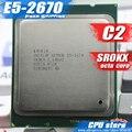 Frete grátis intel xeon e5-2670 c2 srokx cpu 2.6 ghz cpu lga 2011 20 MB de Cache L3 8 Processador de NÚCLEO 115 W scrattered peças e5 2670