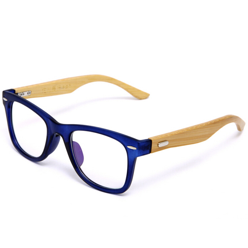 japan handmade natural bamboo glasses frame clear lens for women men vintage myopia eye glasses frames wooden spectacle frame