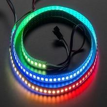 1M 60LED WS2812B 5050 RGB LED Strip Light Waterproof Addressable White Shell