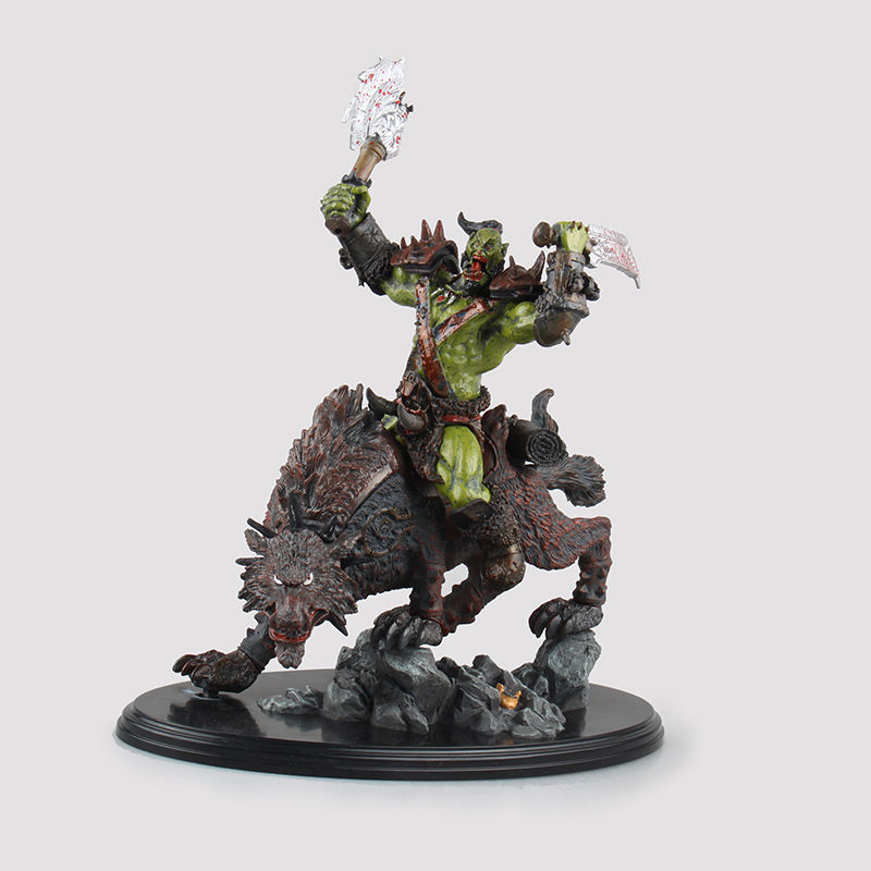 WOW World of Orc Statue Figure High Quality Wolf Rider 10 New In Box state of wow бейсболка wow модель 2587674