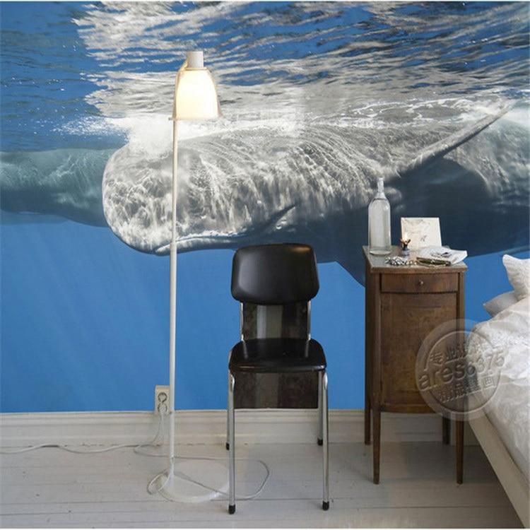 Buy 3d ocean wallpaper whale photo for Mural hidupan laut