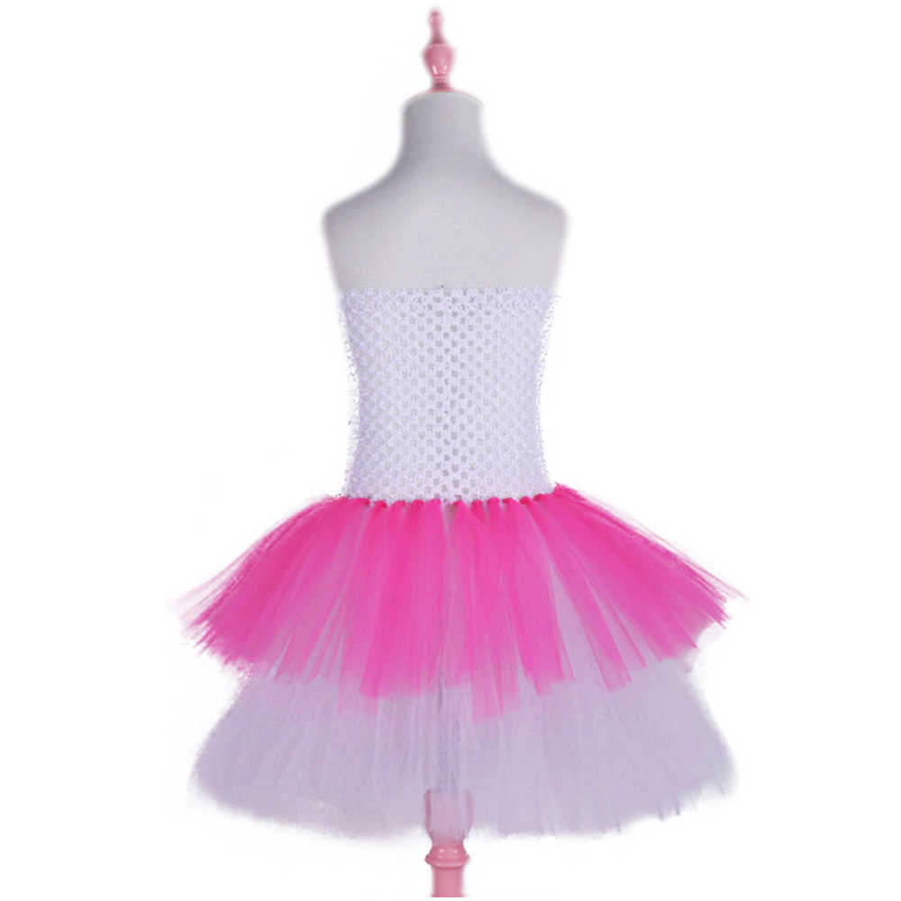 d975bc496 ... Hot Pink and White Kitty Design Baby Girls Tutu Dress Cartoon Toddler Girls  Dress Birthday Photo