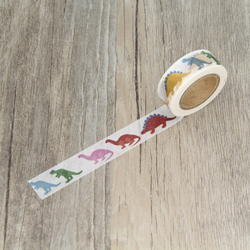 Dinosaur Animal Children Gift Wrapping Washi Paper Masking Tapes for Scrapbooking Tape DIY Stickers Crafts 6 3cm vintage masking tape gift wrapping material diy scrapbooking diary album paper stickers craft washi tape