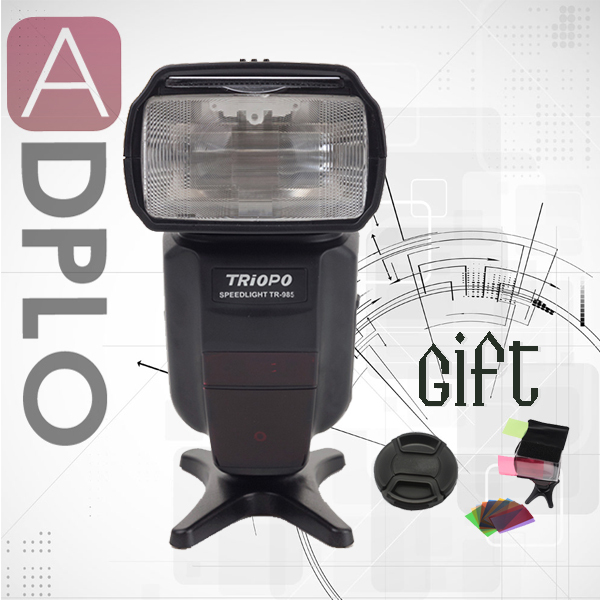 Buy 1 get 2 gift !Triopo TR-985 Color LCD e-TTL 1/8000 HSS Wireless Flash Light Speedlite Suit For Canon 6D 5D 7D 70D 60Da 60D цены онлайн