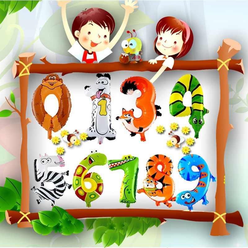 1 шт. 30-50 см 16 дюймов животный фольгированный шарик, мультфильмы, математические принадлежности для детей, креативные школьные товары для дня рождения