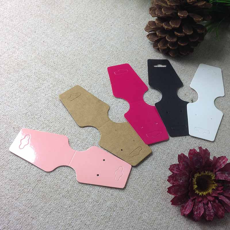 1lot =100 Pcs Hot Sale Pink/ Black/ White /kraft Rose Red  Necklace Card Custom Logo Cost Extra  MOQ : 1000 PCS 12.5x4cm