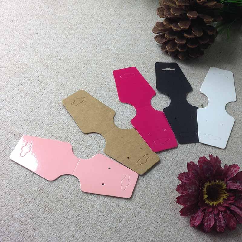 1lot =100 Pcs Hot Sale Pink/ Black/ White /kraft Rose Red  Necklace Card Custom Logo Cost Extra  MOQ : 1000 PCS 12.5x4cm