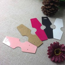 1lot =100 pcs Hote Saling Pink Black white kraft Rose Red  Necklace Card If Custom Logo Cost Extra MOQ : 1000 PCS 12.5x4cm