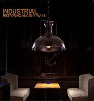 W Stylu Vintage Wisiorek Lampa Sufitowa Z Kutego żelaza Przemysłowych Zardzewiały Metal światła Hotel Kuchnia Wyspa Oprawy Oświetleniowe Antyczne