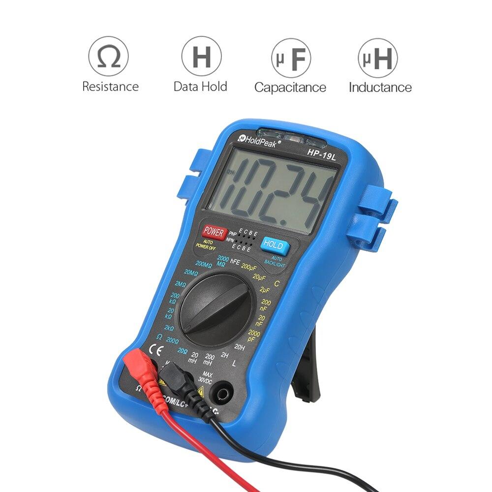 kkmoon LCD Digital LCR Multimeter Resistance Capacitance Inductance Transistor hFE Test Tester capacimetro Meter + Wrist Strap professional victor inductance capacitance lcr meter digital multimeter resistance meter vc6013