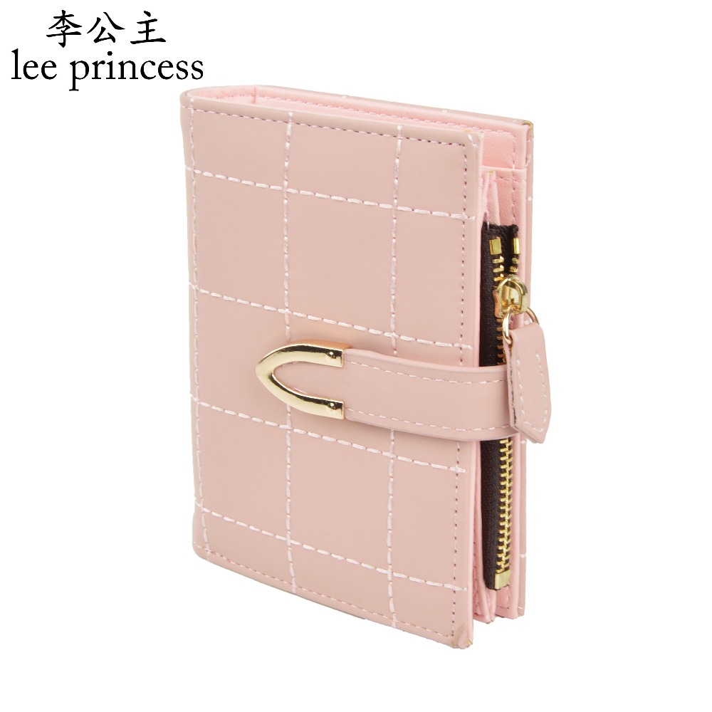 AOEO Plaid Women Purse Small Wallets Mini Bag Soft Leather Double Photo Holder Zipper Coin Purses Ladies Slim Wallet Female Girl new small designer slim women wallet thin zipper ladies pu leather coin purses female purse mini clutch cheap womens wallets