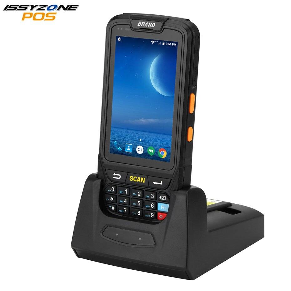 ISSYZONEPOS Sans Fil Barcode Scanner De Poche POS Terminal Android 7.0 4g Terminal de Données Mobile 2D Laser Barcode Reader IPDA018