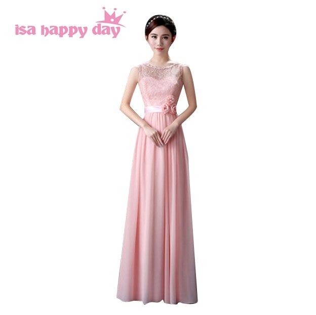7667e942ee Mix style sukienka druhna formalna panna młoda jest pokojówka eleganckie  długie suknie kobiet dla dziewczynek druhny szlafrok jasny różowy H3603 w  Mix style ...