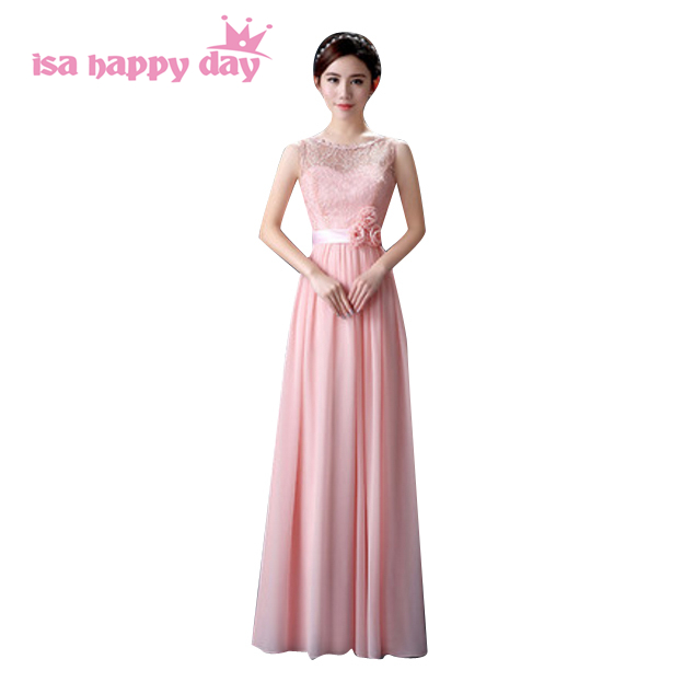 mix style bridesmaid dress formal bride s maid classy long dresses women  for girls bridesmaids dressing gown light pink H3603 b6c72d505e33