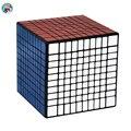 Shengshou 10.2 cm 10 Camadas 10x10x10 (Etiqueta DO PVC) Preto/Branco Adesivos Cubo Mágico Torção enigma Velocidade Ajustável Elástica