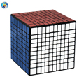 Shengshou 10.2cm 10Layer 10x10x10(PVC Sticker)Black/White Stickers Magic Cube Puzzle Speed Twist Adjustable Elastic