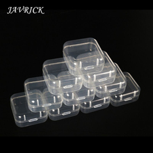 20Pcs Square Mini Clear Plastic Package Box Portable Transparent Rings Earring Display Wedding Jewelry Ring Storage