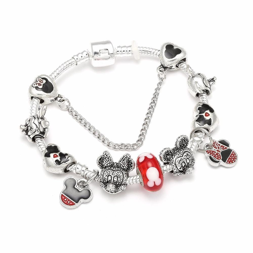 SPINNER Mickey Trojan Dangle DIY Charm Bracelet con cadena de la - Bisutería - foto 6