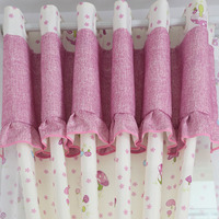Blackout Princess Window Curtains For Living Room Pink Girl Drapes Purple Lace Baby Panels Blue Dots