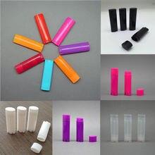 Wholesale 100 Pcs 4.5g / 0.15oz Empty Oval Flat Tubes Lip Balm Tubes Lipstick Containers DIY Cosmetic Tube Bottle multi colour