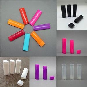 Image 1 - Wholesale 100 Pcs 4.5g / 0.15oz Empty Oval Flat Tubes Lip Balm Tubes Lipstick Containers DIY Cosmetic Tube Bottle multi colour