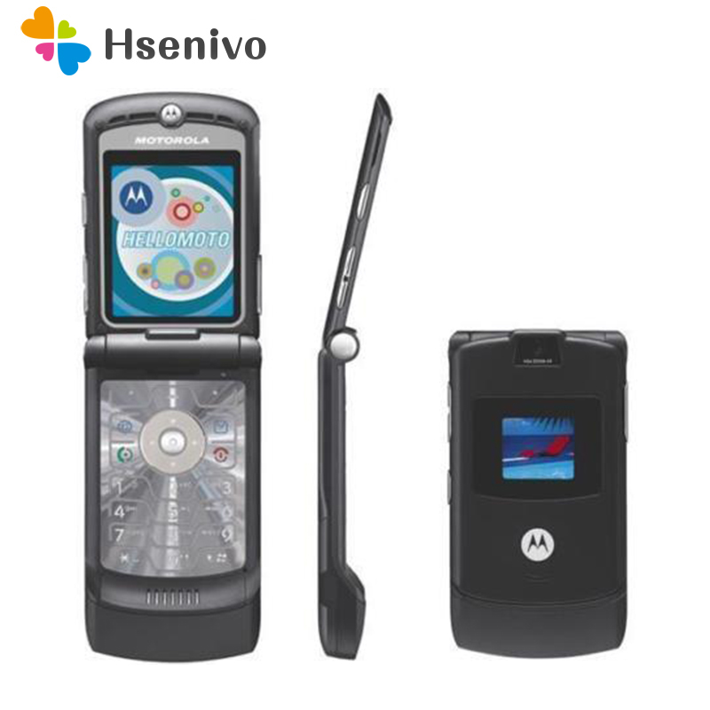 Motorola Original Razr V3 Mobile-Phone GSM Refurbished 1 One-Year-Warranty 100%Good-Quality