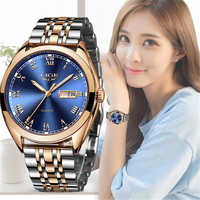 2019 LIGE New Rose Gold Women Watch Business Quartz Watch Ladies Top Brand Luxury Female Wrist Watch Girl Clock Relogio Feminino
