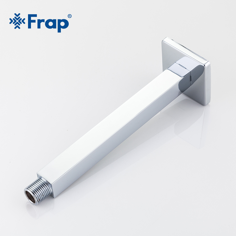 Frap New Bathroom 20cm Shower arm Chrome plated Brass Material Fixed Pipe Bathroom accessories Square shower arm Y81018