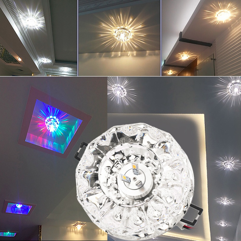 3W LED Modern Crystal Ceiling Light Fixture Lamp Lighting hot selling ...