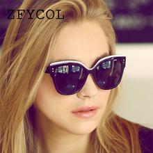 ZFYCOL Fashion Cat Eye Sunglasses Women Brand Designer Original Retro Mirror Sun Glasses For Female Eyeglasses UV400 oculos