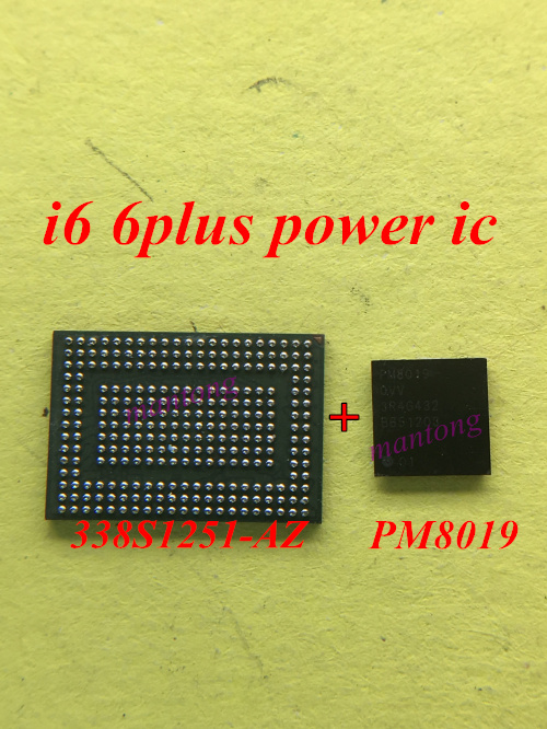 1pair/lot 338S1251-AZ + PM8019 338S1251 main power and baseband power ic for iphone 6 6-plus