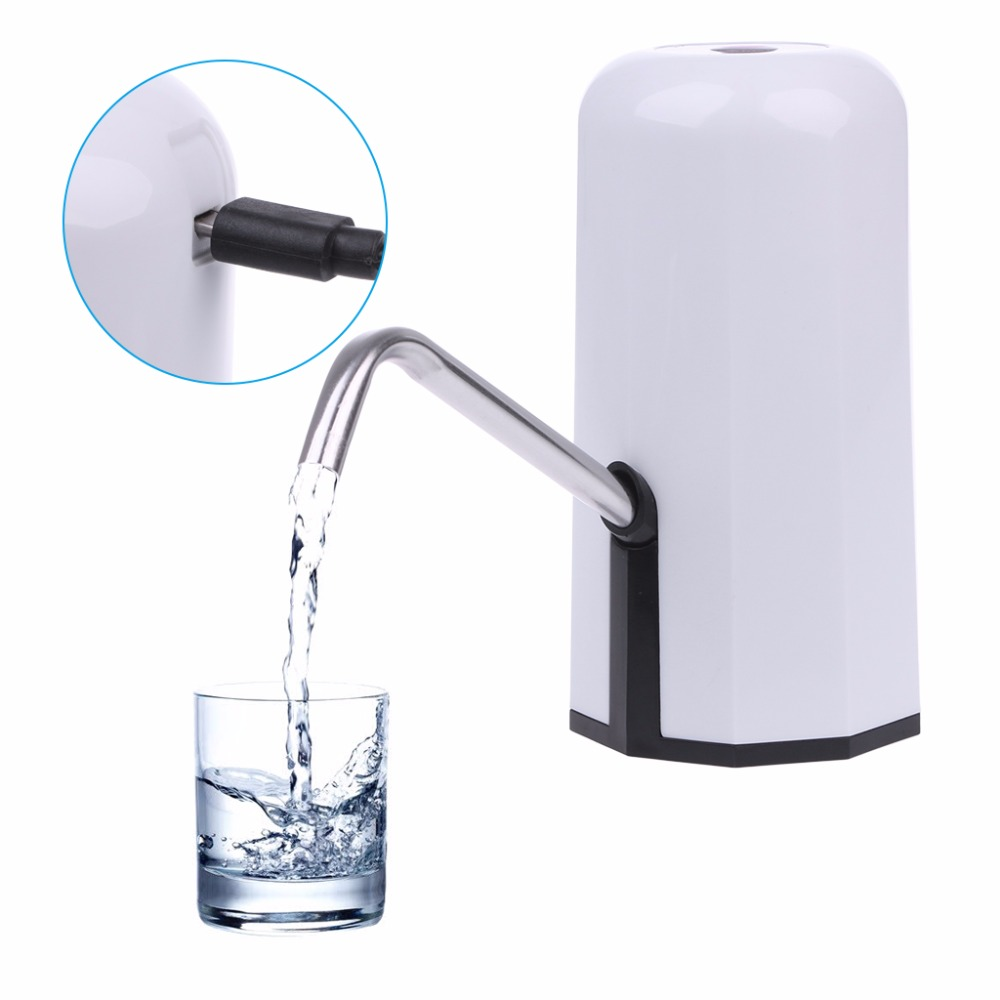 Automatic Electric Portable Water Pump Dispenser Gallon Drinking Bottle Switch Kitchen Faucet Tools цены