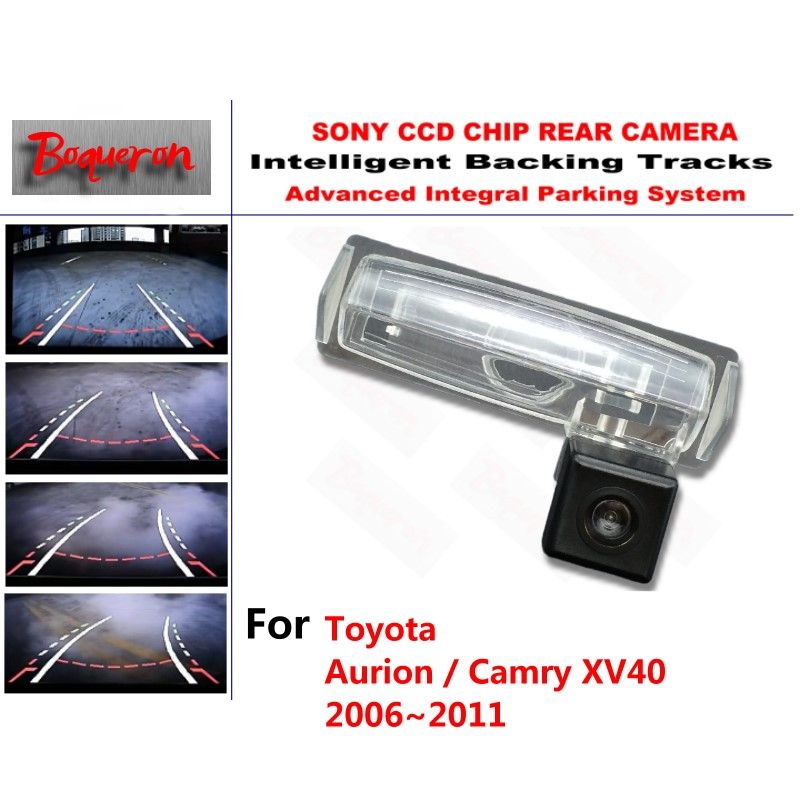 for Toyota Aurion / Camry XV40 2006~2011 CCD Car Backup Parking Camera Intelligent Tracks Dynamic Guidance Rear View Camera
