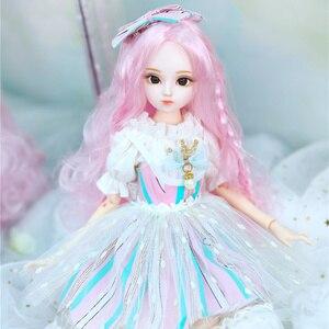 Image 3 - DBS Doll1/4 BJD Sữa Hoàng Hậu Tên Amenda Tóc Hồng Cơ Khớp Cơ Thể Bé Gái, SD