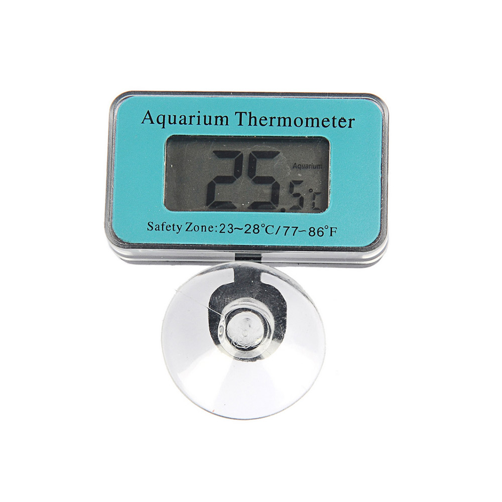 Aquarium Digital LCD Screen Thermometer Sensor Water Controller Smart Temperature Fish Tank Terrarium Alarm font b