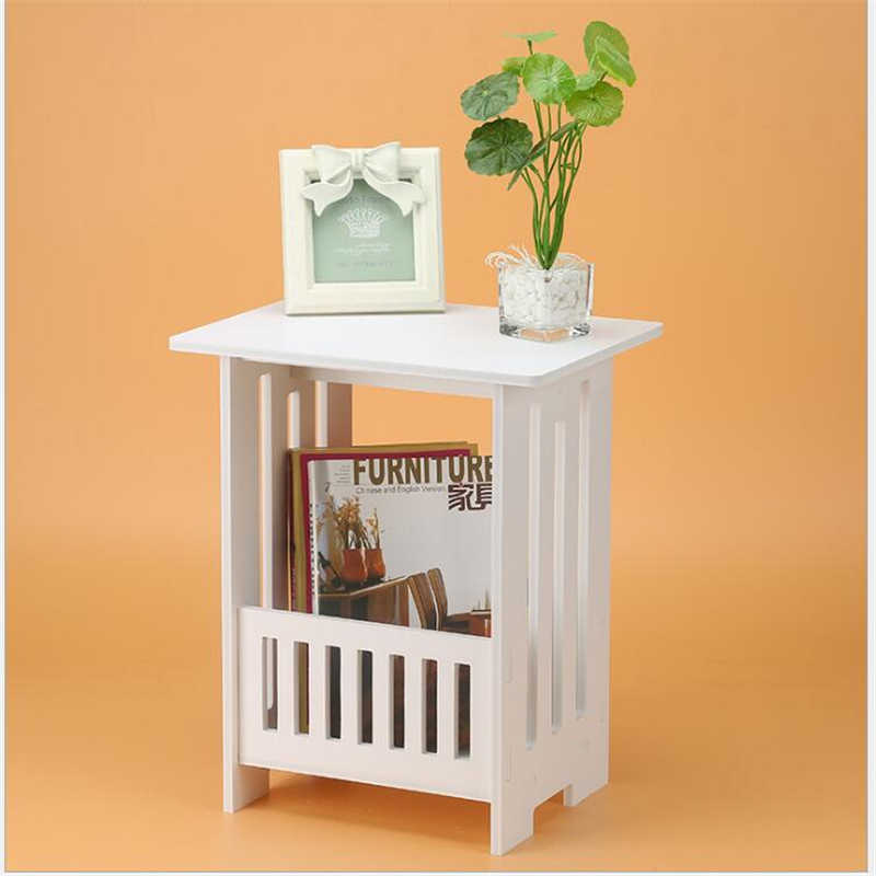 Европейский стиль журнальный столик спальня балкон Досуг журнал хранение домашний декор стол, столы кабинет для детей-белый