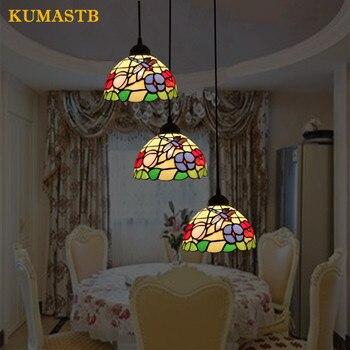 3 головки стрекоза цветы Chandeliler осветительные приборы столовая гостиная лампа Европейская спальня подвесные лампы