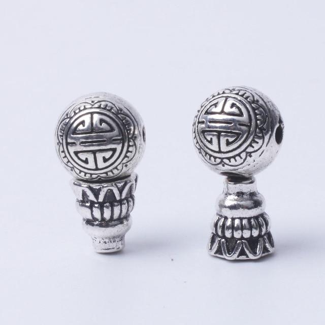 10 cái/lốc trung quốc phong cách bạc guru beads đối với mân côi làm 3 hole bead Kim Loại phật spacer beads Tây Tạng Phật Giáo
