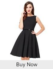 Belle Poque 17 Women Dress Robe Vintage Off Shoulder Black Summer Dress Jurken 1950s 60s Retro Rockabilly Swing Party Dresses 1
