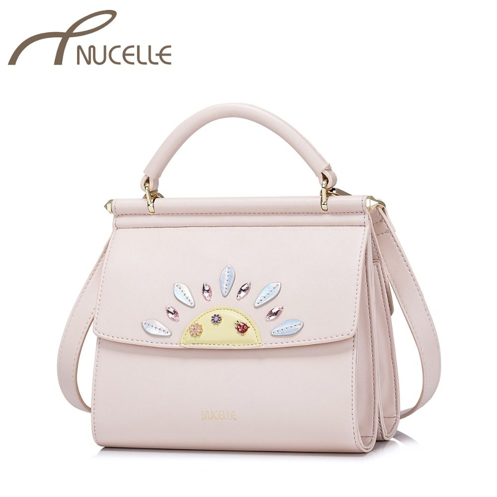 NUCELLE Women's PU Leather Handbags Ladies Fashion Sunflower Messenger Tote Purse Female Elegant Mini Crossbody Bags NZ4049