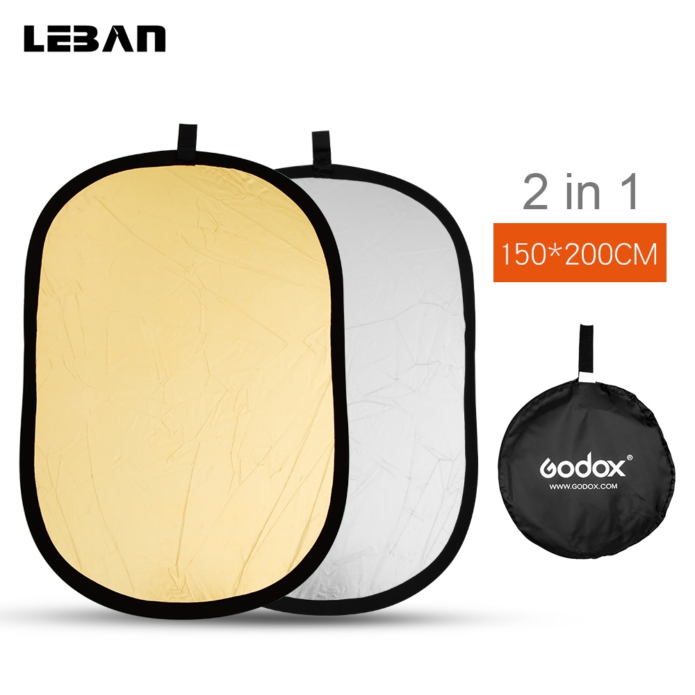 Godox 2 in 1 150 200cm Portable Oval Multi Disc Reflector Collapsible Photography Studio Photo Camera
