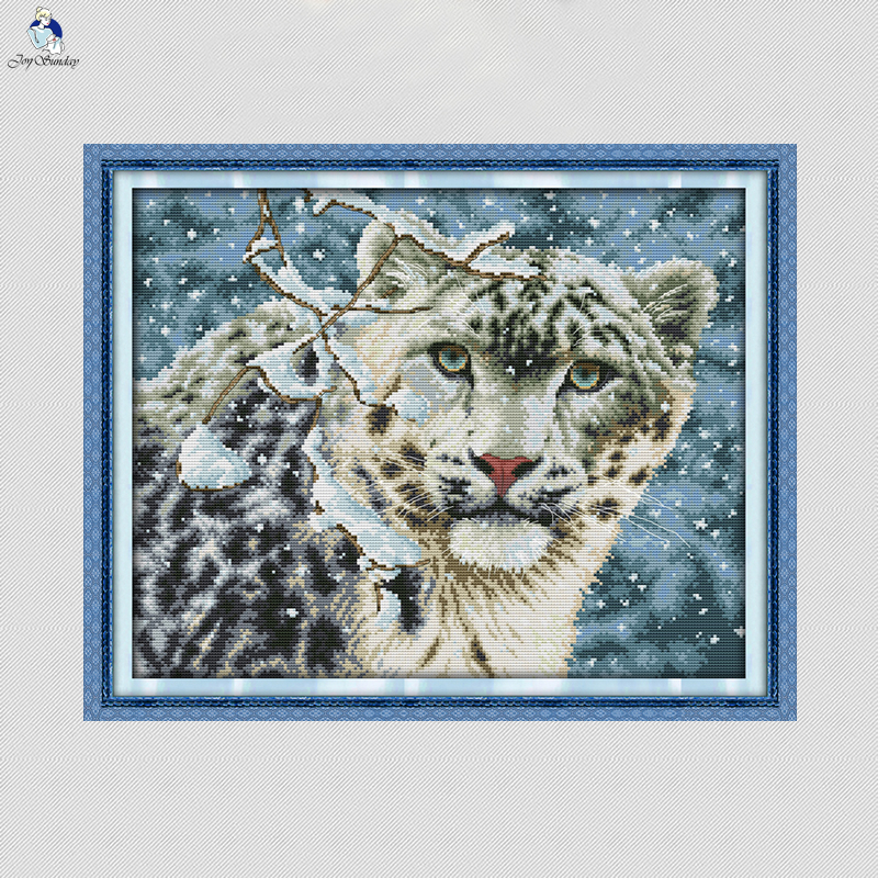 Leopard Animal Painting Dmc 14ct 11ct Counted Cross Stitch Kits Embroidery Set Needlework Set Chinese Cross Stitch Home Decor Cross-stitch